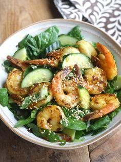 Shrimp & Bok Choy Salad with Vietnamese Dressing recipe by SeasonWithSpice.com