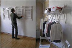 Folding chair wardrobe