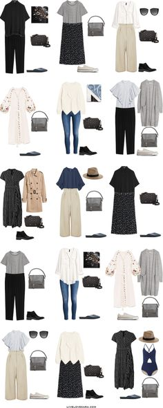 Packing List: one month in Europe in August. What to Wear: Outfit Options - livelovesara