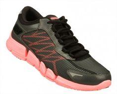 Tênis Skechers Women's GObionic Fuel Charcoal Hot Pink #Tênis #Skechers