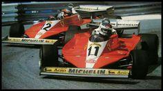 #11 Carlos Reutemann...#12 Gilles Villeneuve...Scuderia Ferrari SpA SEFAC...Ferrari 312T3...Motor Ferrari 015 F12 3.0...GP Monaco 1978