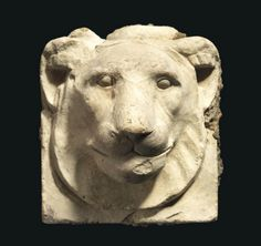 AN EGYPTIAN LIMESTONE LION HEAD SCULPTOR'S MODEL -  EARLY PTOLEMAIC PERIOD, CIRCA 4TH-3RD CENTURY B.C.  | Christie's