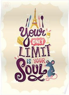 Your only limit is your soul *Pixar Lettering Series by Risa Rodil Pixar Quotes, Disney Quotes, Movie Quotes, Quotes From Movies, Film Pixar, Pixar Movies, Disney Movies, Citations Film, Motivational Quotes