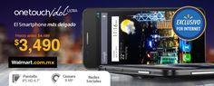 """El smartphone One Touch Idol de Alcatel cuenta con una mejora importante en la pantalla, con 4.7"""" y la tecnología IPS las imágenes y videos nunca se vieron más nítidos. Walmart.com.mx, Hacemos Clic!"""