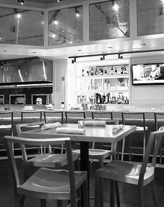 Avenue Kitchen, Villanova, PA #Emeco Icon Chairs made from 100% Aluminum