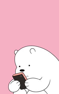 10 Top Ice Bear We Bare Bears Wallpaper Full Hd For Pc pertaining to The Most Amazing We Bare Bears Wallpaper White - All Cartoon Wallpapers Cute Panda Wallpaper, Cartoon Wallpaper Iphone, Cute Disney Wallpaper, Kawaii Wallpaper, Wallpaper Backgrounds, Trendy Wallpaper, White Wallpaper, Polar Bear Wallpaper, Iphone Cartoon