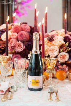 Pink Champagne Wedding Ideas, Veuve Cliquot Champagne   ElegantWedding.ca #pinkchampagne #champagne