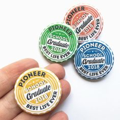 Pioneer Buttons for 2018! • There will also be... Magnets Instructor Magnets Pioneer School Gifts Fully Accomplish Your Ministry Best Life Ever Gingers Five and Dime
