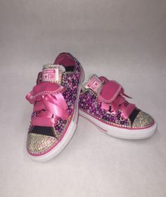 04551f788e78ee  Custom bling Converse All Star Chuck Taylor Sneakers embellished with high  quality rhinestones and