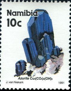 Sello: Azurit (Namibia) (Oranjemund Alluvial Diamond Mine) Mi:NA 686x,Sn:NA 677,Yt:NA 643