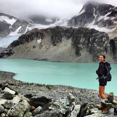 Wedgemount Lake + glacier, BC. So awesome. #whistler #rei1440project #scrambletime