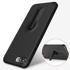360 Degree Rotating Stand and Shock Absorbing TPU Corner with Air Cushion Tech for iPhone 7 PLUS - BLACK BLACK COLOUR [COMPATIBLE WITH APPLE IPHONE 7 plus 5.5 INCH 2016 ]: iPhone 7 plus protective case fit for iPhone 7 plus, featuring 360 degree rotatable kickstand which is made of premium materials with long lasting durability. [SHOCK ABSORBPTION TECHNOLOGY]: added 4 shockproof air chuion corners which is effectively protect your phone from drops and impacts. [BUILT-IN 360 DEGREE ROTATABLE…