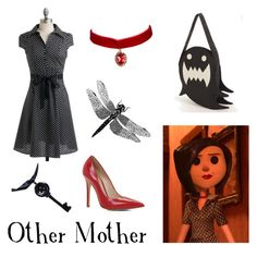 """Other Mother, Beldam from Coraline"" by krusi611 ❤ liked on Polyvore featuring ALDO"