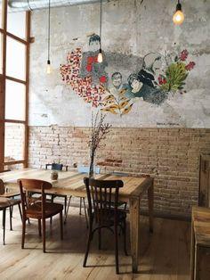 Ideas Lighting Ideas Restaurant Coffee Shop For 2019 Decoration Restaurant, Deco Restaurant, Restaurant Design, Coffee Shop Bar, Coffee Shop Design, Rustic Coffee Shop, Rustic Cafe, Cafe Interior Design, Cafe Design