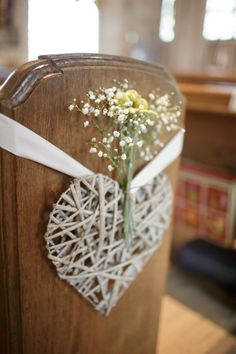 Wedding Ceremony Decorations Church Romantic Ideas For 2019 Church Wedding Flowers, Wedding Pews, Marquee Wedding, Wedding Bouquets, Rustic Wedding, Table Wedding, Wedding Dinner, Wedding Venues, Wedding Pew Decorations