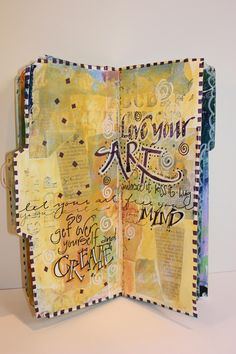 Martha Lever page in a Donna Downey journal - get over yourself and create