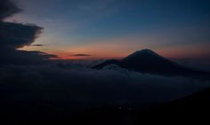 Batur volcano which I hiked to for the sunrise - speechless. #bali #travel #wanderlust
