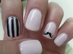 with mustache