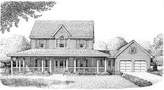 Farmhouse House Plan chp-44376 at COOLhouseplans.com