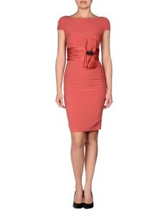 Knee length dress coral with a bow! Perfect for the Kentucky derby!!
