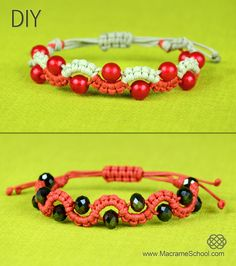 DIY Easy Wave Bracelet with Beads: http://youtu.be/ZzXMP9QmemM