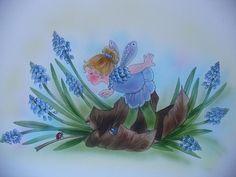 Das kleine Traubenhyazintchen-Elfchen  von Christl Vogl