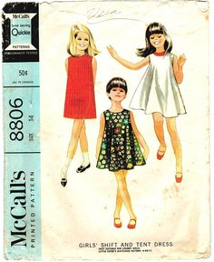 McCall's 8806 Vintage 60s Mod Swingy Trapeze by PatternPlaying