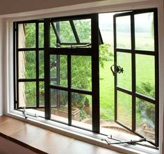 Browse thousands photos of Casement Windows that will inspire you. Find ideas and inspiration for Casement Windows to add to your own home. Window Replacement, Casement Windows Exterior, Steel Doors And Windows, Windows, Crittal Windows, Metal Windows, Windows Exterior, Bathroom Windows, House Window Design