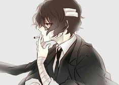 Thirty-three year old Dazai Osamu was a man of many things. He was a man of smart wits and beautiful physique. A man who owned the most successful mafia in Yok. Dazai Bungou Stray Dogs, Stray Dogs Anime, Me Me Me Anime, Anime Guys, Nocturne, Dazai Osamu, Manga Boy, Tokyo Ghoul, Mafia