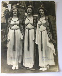 Vintage Photograph Three Beauty Queens in Star Tiaras by veraviola
