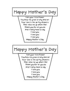 Mother's Day Flower Pot Craft and Card: Grandma Included Muttertag Blumentopf Handwerk Mothers Day Crafts Preschool, Grandparents Day Crafts, Diy Mother's Day Crafts, Fathers Day Crafts, Free Mothers Day Cards, Diy Mothers Day Gifts, Happy Mothers Day, Mom Poems, Mothers Day Poems