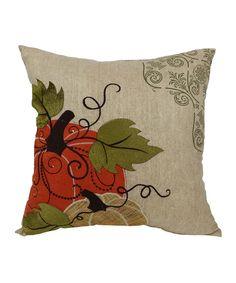 Pumpkin Embroidered Decorative Pillow