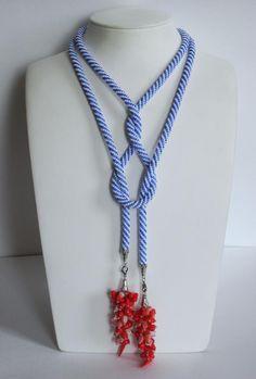 Rope Jewelry, Macrame Jewelry, Fabric Jewelry, Leather Jewelry, Clay Jewelry, Jewelry Crafts, Handmade Jewelry, Knitted Necklace, Diy Necklace
