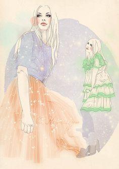 Hilla Hryniszyn Fashion Illustrations