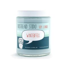Winterfell - Soy Candle - Book Lovers' Scented Soy Candle - 8oz jar