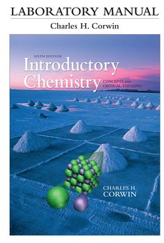 Laboratory Manual for Introductory Chemistry: Concepts and Critical Thinking Edition, by Charles H. Chemistry Textbook, Teaching Chemistry, Math Textbook, Molar Volume, Paper Chromatography, Functional Group, Chemical Equation, Chemical Bond, Most Popular Books