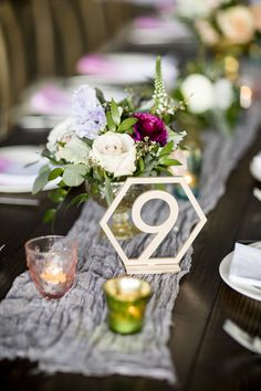 Trend Alert - Wedding Table Numbers, Geometric Minimalist Style for 2018 Weddings and Beyond | www.ZCreateDesign.com or ZCreateDesign on Etsy