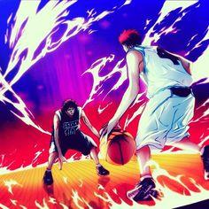 """Kagami vs Akashi """"In zone """" ' ' ' #anime #manga #otaku #akashiseijuro #kagami #kurokonobasket #comics #cosplay #f4f #wallpaper #art #nba #picsart #like4like #repost"""