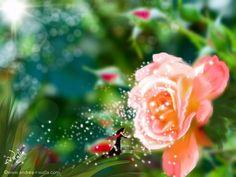 Wie parfümiert sich eine Fee?  Mit einer Roseduftdusche. 😊  Make Myday  die Abenteuer der kleinen Fee als Kalender und FineArt http://www.spielweltv3galerie.com/shop/make-myday/