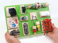 BUSY BOARD Sensory board Activity board Wooden children's