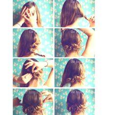 Super cute and simple hair idea!