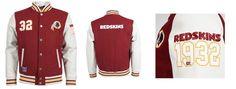 Other Football Clothing and Accs 74676: Nfl American Football Washington Redskins Gridiron Letterman Jacket Burgundy -> BUY IT NOW ONLY: $79.99 on eBay!