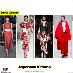Japanese Kimono Trend for Spring Summer 2015. Antonio Marras, Marni, Alexander McQueen, and Aganovich #Spring2015 #Fashion2015 #SS15