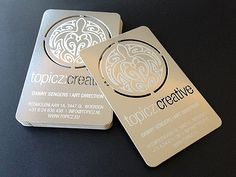 Stainless Steel, Plasma Cut Business Cards.