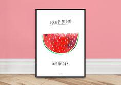 Kunstdruck Poster / Stimmungsposter Melon von typealive auf DaWanda.com