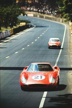 Long nose Ferrari 250LM at Le Mans.