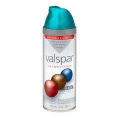 Valspar 12 Oz. Exotic Sea Spray High-Gloss Spray Paint - Old metal file cabinet