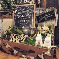 いいね!50件、コメント1件 ― みきさん(@mikkapi1204)のInstagramアカウント: 「式場を素敵にしてくれました** #ウェルカムトランク#wedding #結婚式 #結婚式diy #卒花嫁 #プレ花嫁 #marryxoxo」