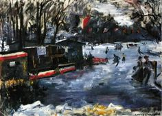 Ice Skating Rink in the Tiergarten, Berlin    1925    Lovis Corinth