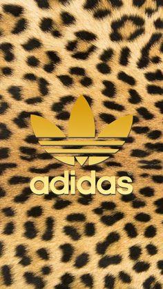[ヒョウ柄]アディダスロゴ/adidas Logo2iPhone壁紙 iPhone 5/5S 6/6S PLUS SE Wallpaper Background